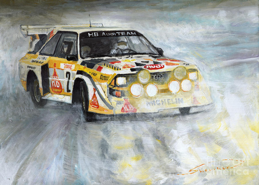 Automotive Painting - 1985 Audi Quattro S1 by Yuriy Shevchuk