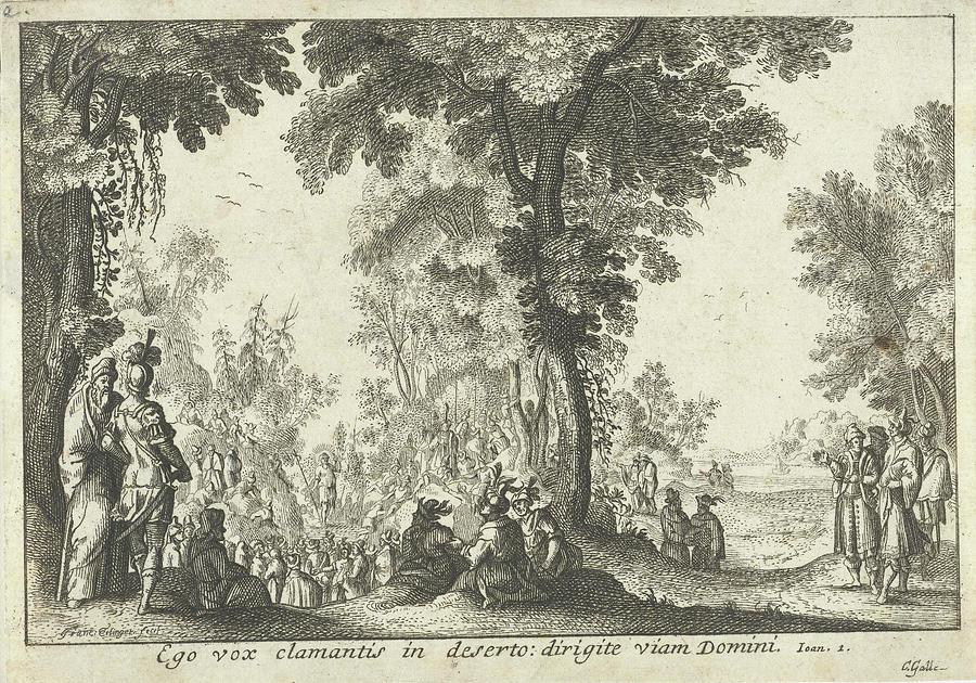 John Baptist Drawing - Audience With John The Baptist, Franz Ertinger by Franz Ertinger