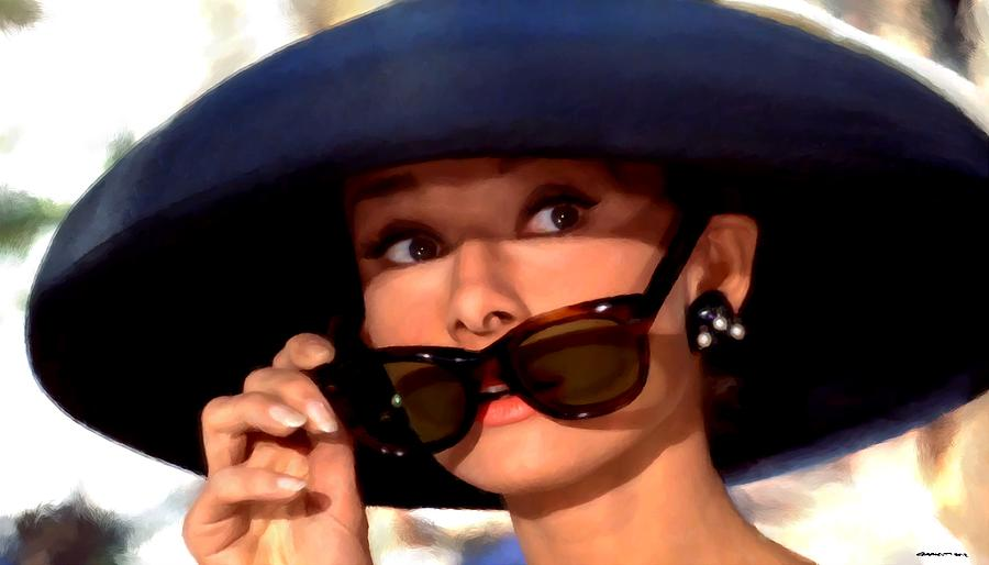 Audrey Hepburn Digital Art - Audrey Hepburn @ Breakfast At Tiffanys by Gabriel T Toro