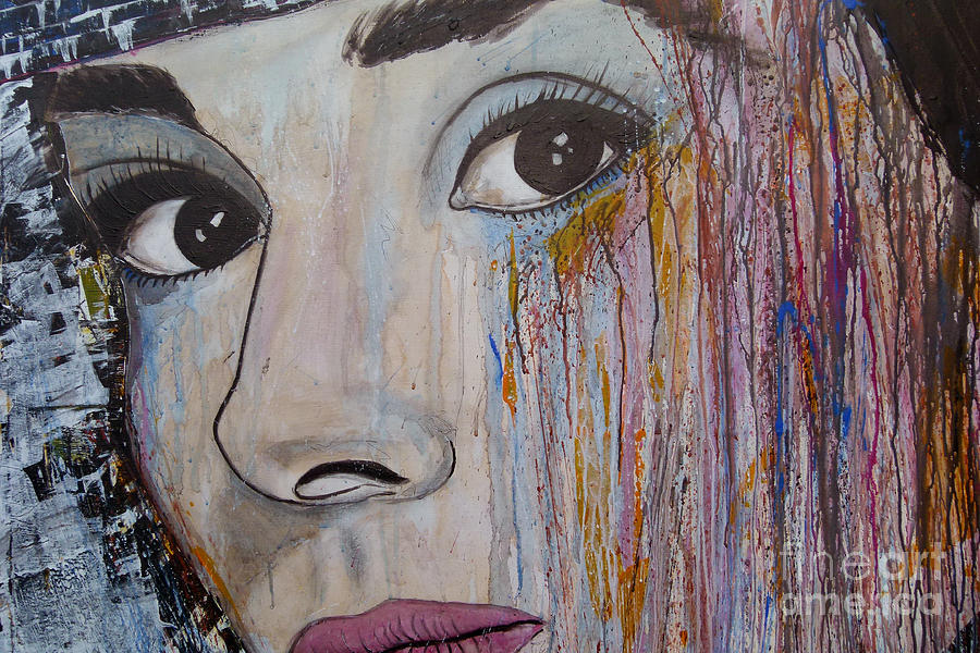 Abstract Painting Painting - Audrey Hepburn-abstract 2 by Ismeta Gruenwald