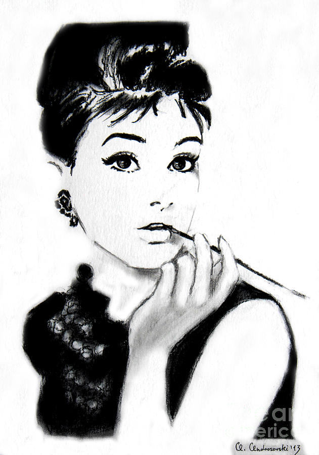 Audrey Painting - Audrey Hepburn by Anna Androsovski