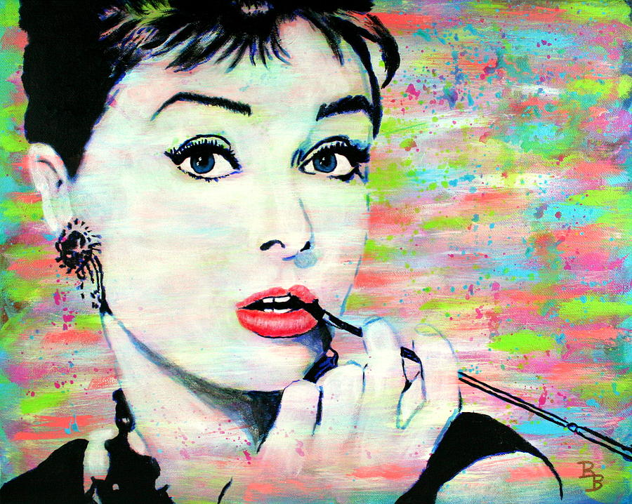 Audrey Hepburn Art Breakfast at Tiffany's by Bob Baker