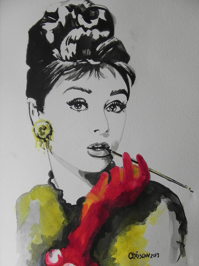 Audrey Hepburn Painting By Chrisann Ellis