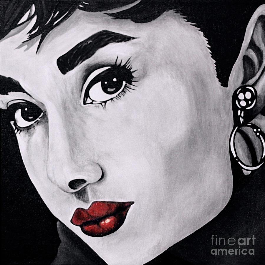 Audrey Hepburn Painting By Denise Wilkins