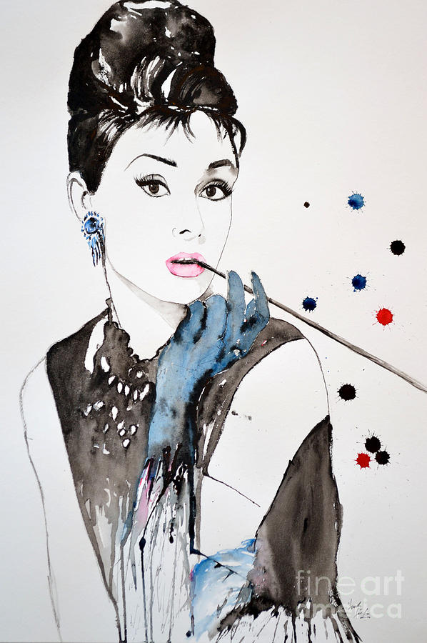 Abstract Painting Painting - Audrey Hepburn by Ismeta Gruenwald