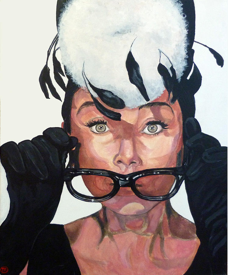 Audrey Painting - Audrey Hepburn by Tom Roderick