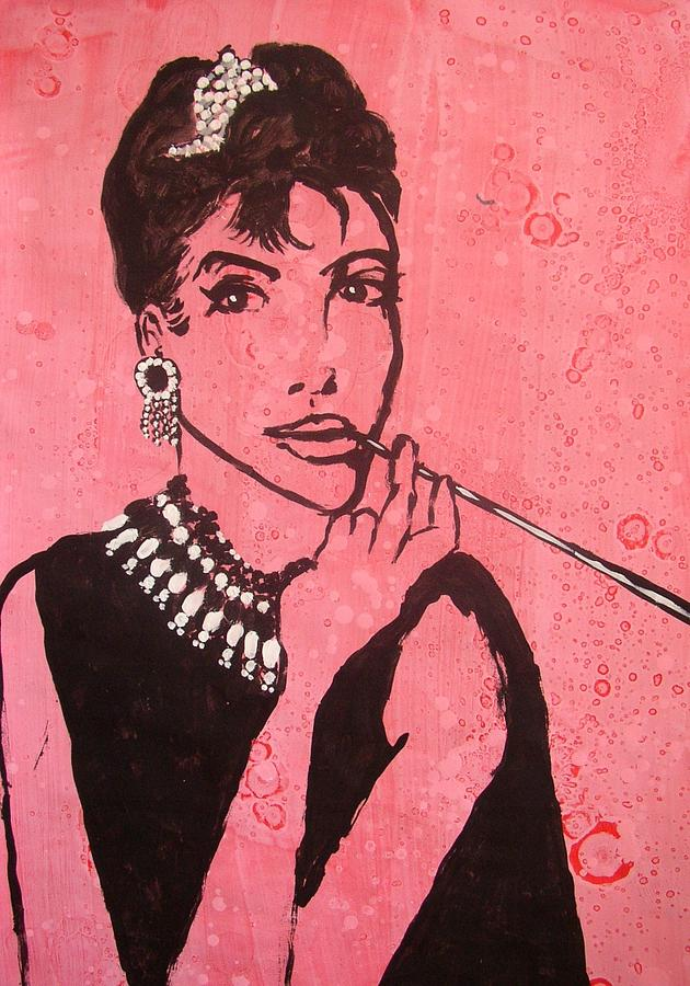 Female Painting - Audrey Hepburn by William Bryant