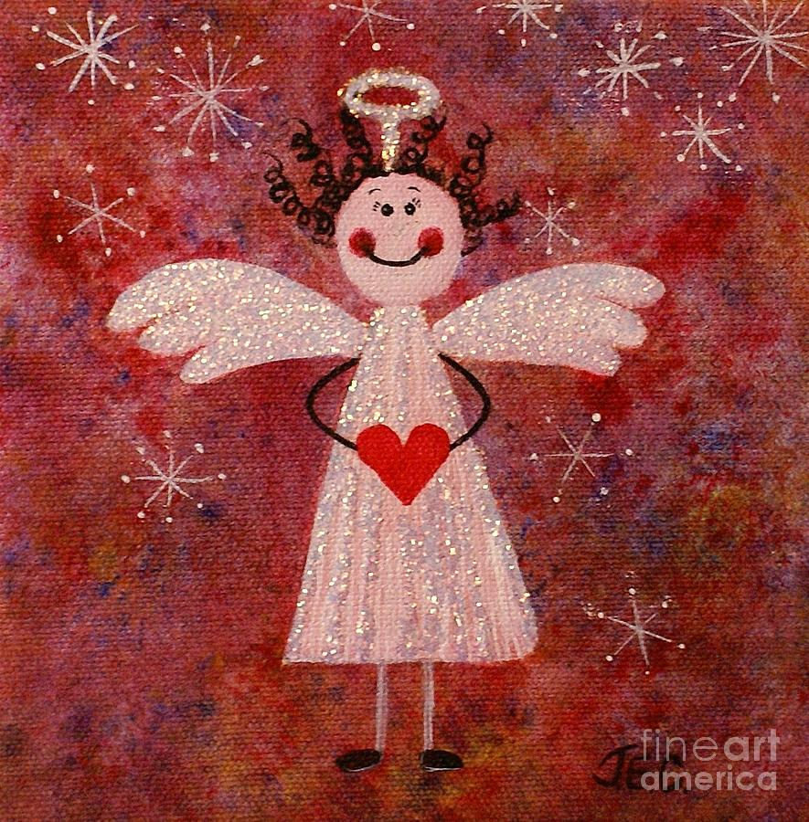 Christmas Painting - Audrey The Angel by Jane Chesnut
