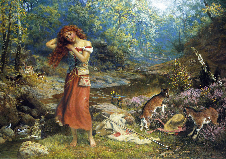Arthur Hughes Digital Art - Audreys Toilette by Arthur Hughes