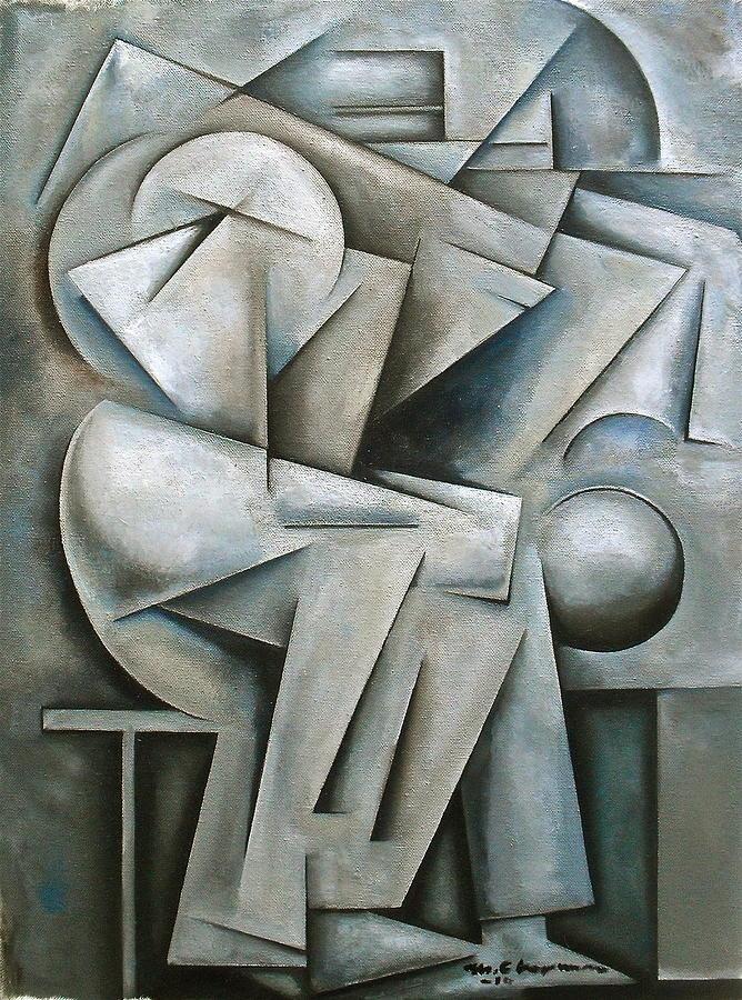 Cubist Painting - Augmentation by Martel Chapman