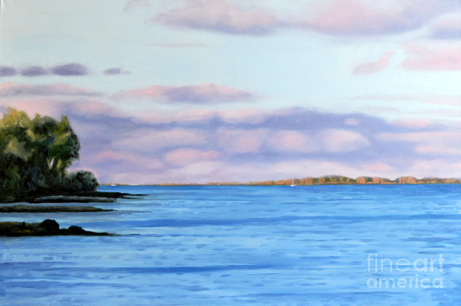 Landscape Painting - August Days Lake Ontario by Joan McGivney