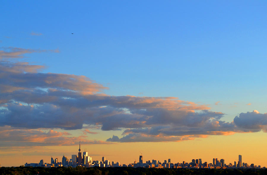 Abstract Photograph - August Early Evening Toronto 4  by Lyle Crump