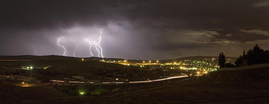 Lightning Photograph - August Lightning by David Halter