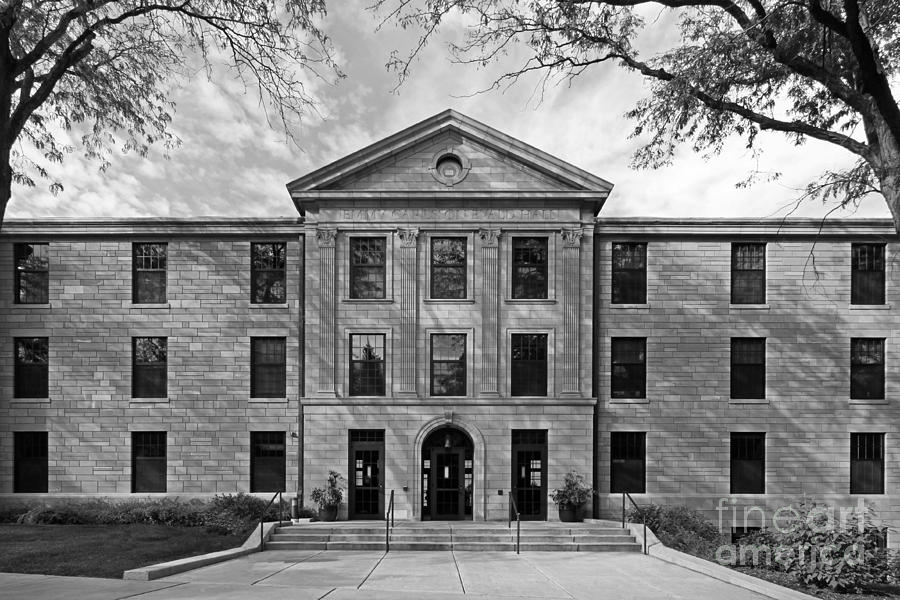 Augustana Photograph - Augustana College Carlsson Evald Hall by University Icons