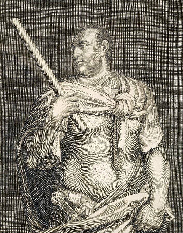 Titian Painting - Aullus Vitellius Emperor Of Rome by Titian