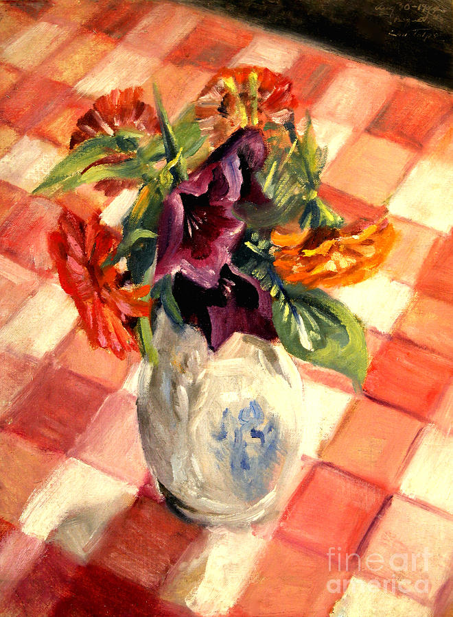 Aunt Alma's Flowers - 1944 by Art By Tolpo Collection