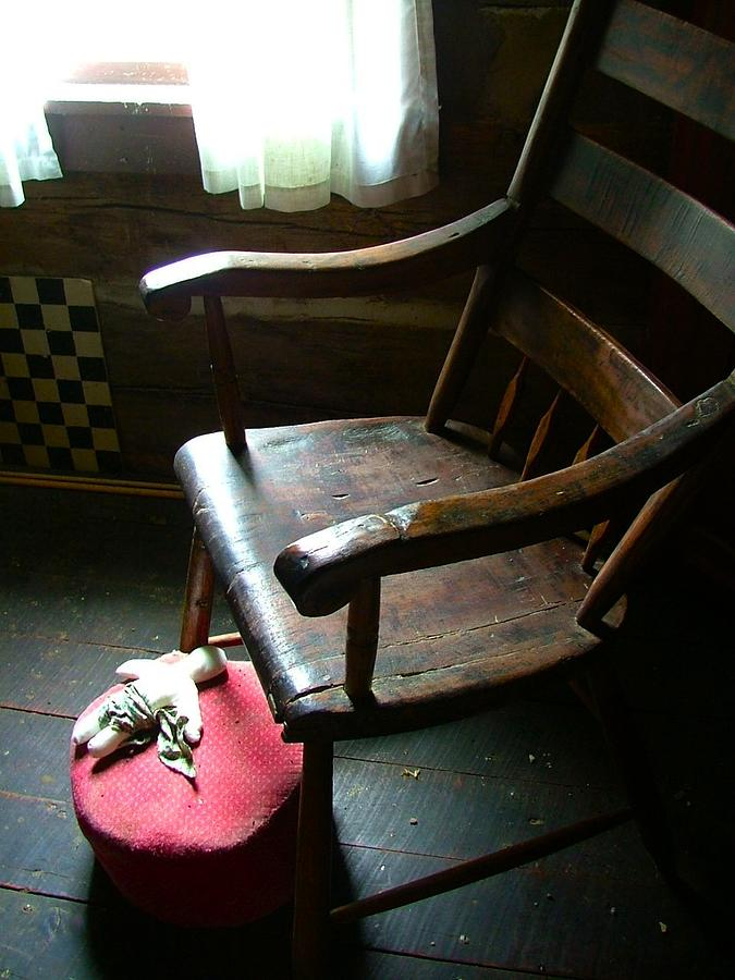 Wooden Chair Photograph - Aunt Tillies Sewing Chair by Julie Dant