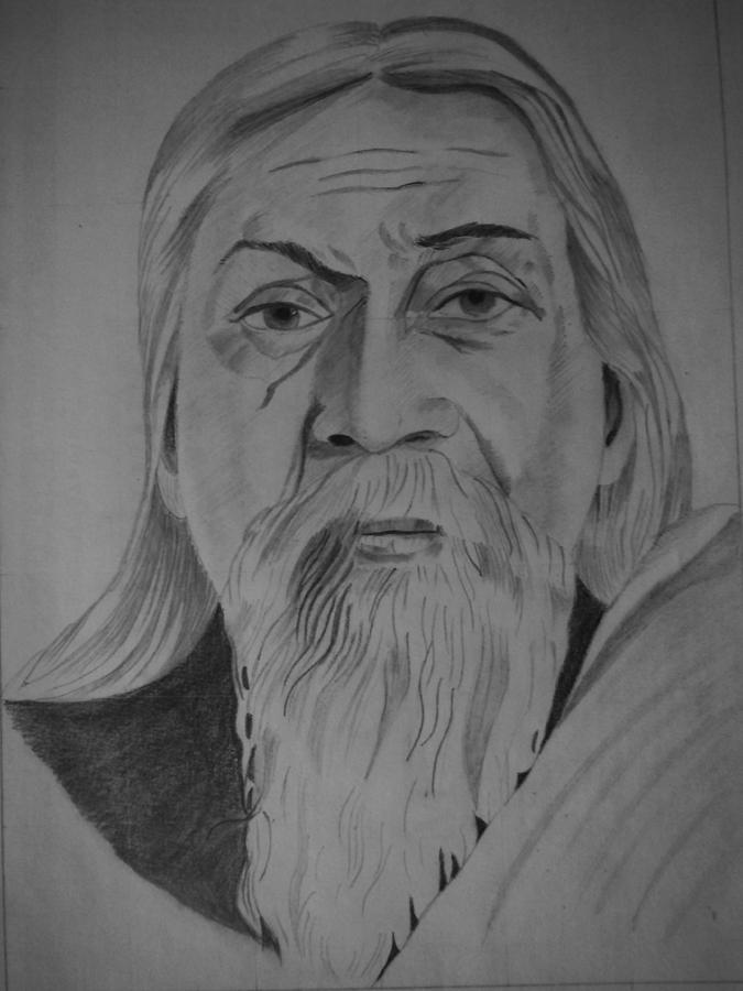 Aurobindo ghosh drawing by sri venkat spread happiness