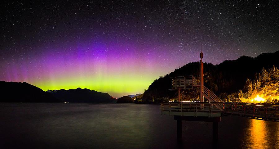 Aurora Borealis Photograph - Aurora Borealis Near Vancouver by Alexis Birkill