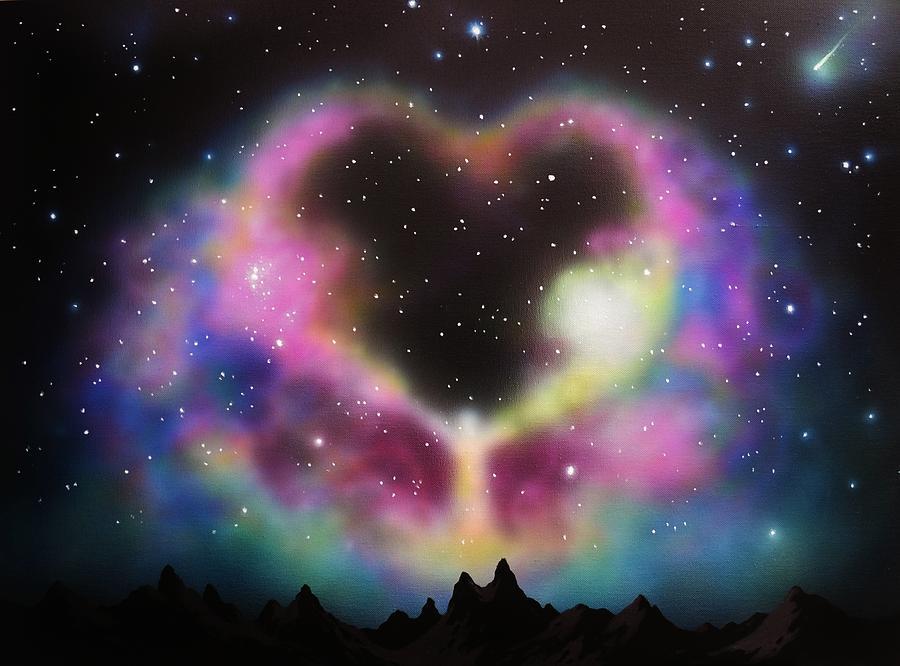 Aurora Borealis Painting - Aurora Borealis The Blessing by Thomas Kolendra
