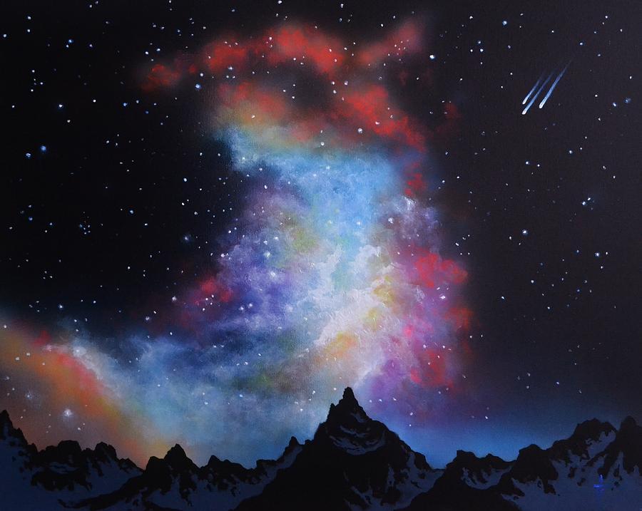 Aurora Borealis Painting - Aurora Borealis  by Thomas Kolendra