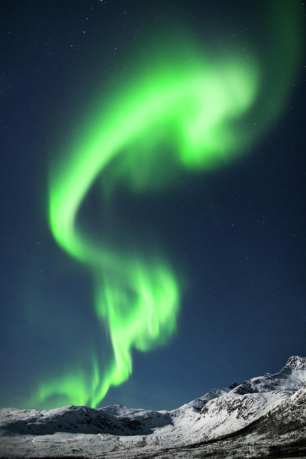 Aurora Borealis, Tromso, Norway Photograph by Simon J Byrne