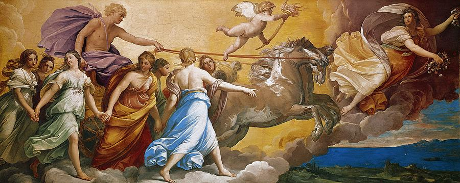 Chariot Painting - Aurora by Guido Reni