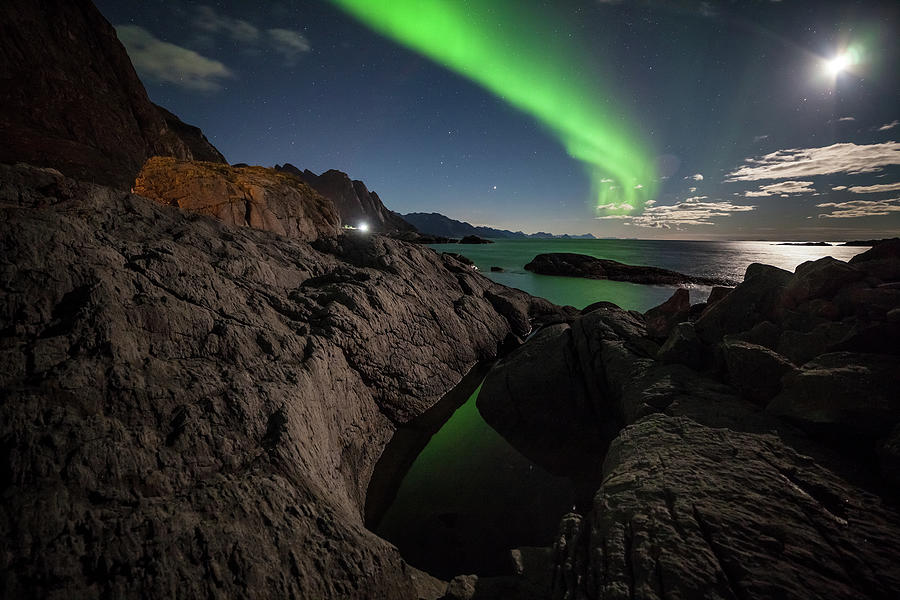 Aurora In The Witchpot Photograph by Tommy Johansen. Freelance Photographer In Lofoten Norway.