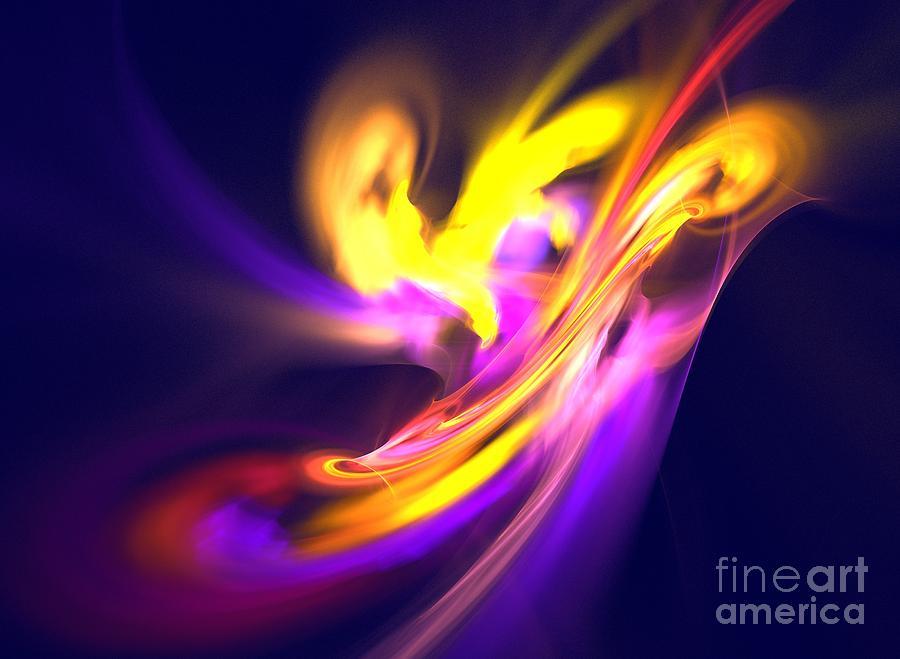 Apophysis Digital Art - Aurora by Kim Sy Ok