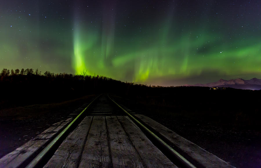 Sam Amato Photography Photograph - Aurora Railroad Tracks by Sam Amato