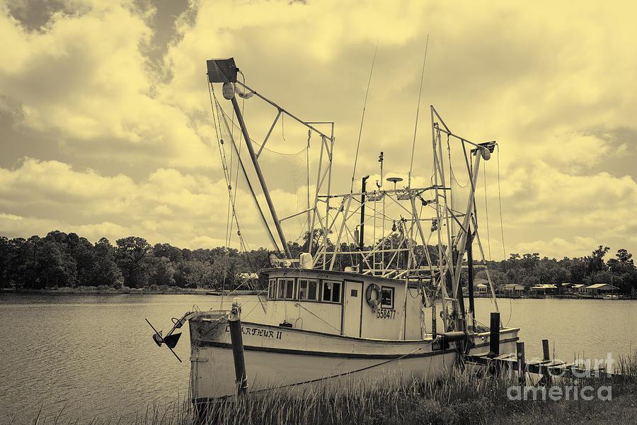 Shrimp Boat Photograph - Aurthur by Russell Christie