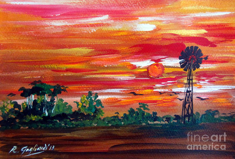 Australia Painting - Aussie Mill by Roberto Gagliardi