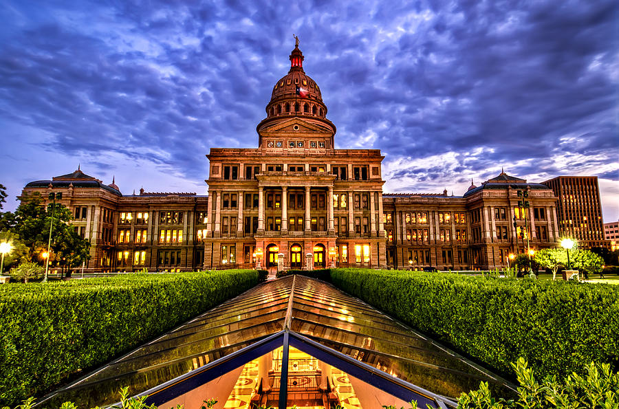 Austin Capitol at Sunset by John Maffei