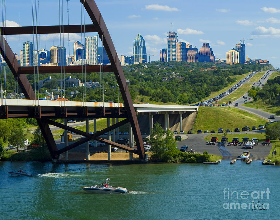 Austin Photograph - Austin From The 360 Bridge by Doug LaRue