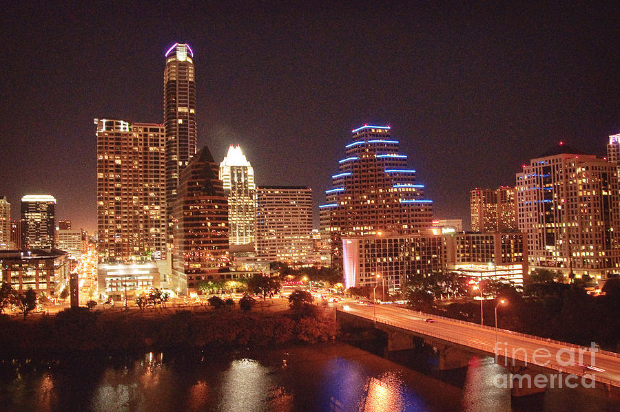 Austin Photograph - Austin Lights The Night by Terry Rowe