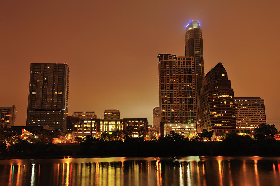 Austin Skyline At Twilight Photograph by Aimintang