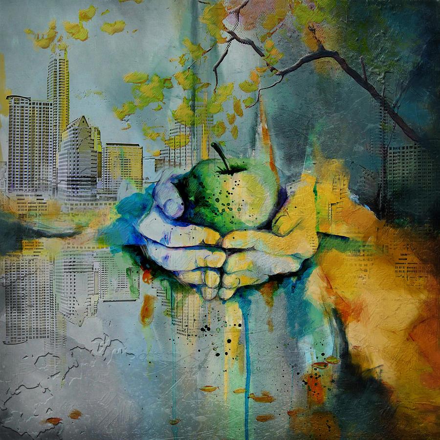 Austin Painting - Austin Skyline by Corporate Art Task Force