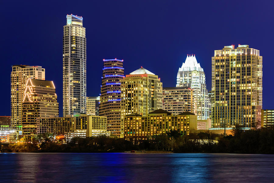 Austin Texas Cityscape Panorama Photograph by Dszc