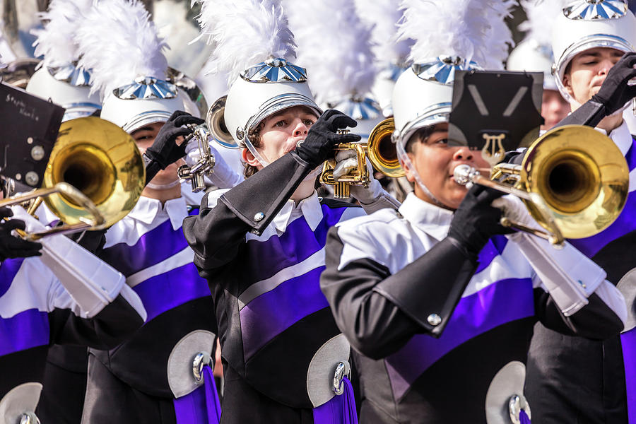 Horizontal Photograph - Austin Texas - Marching Band Celebrate by Panoramic Images