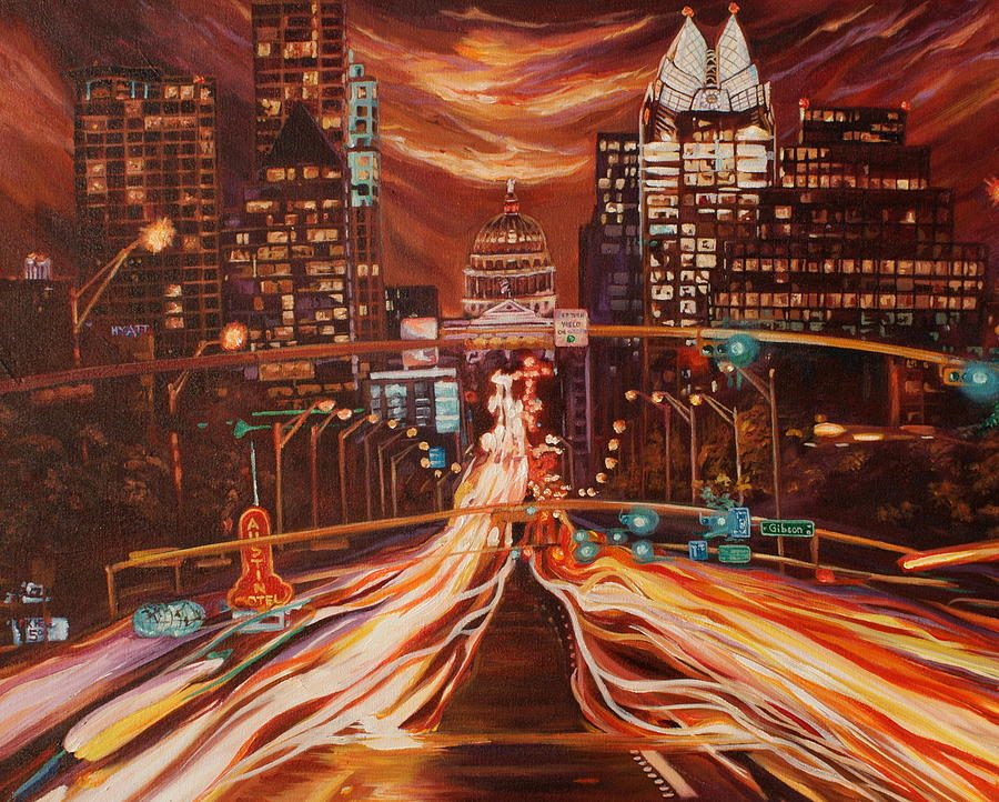 Austin Painting - Austin Unplugged by Suzanne King