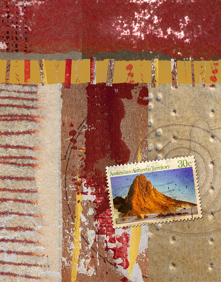 Australia Mixed Media - Australia Antarctic Territory by Carol Leigh