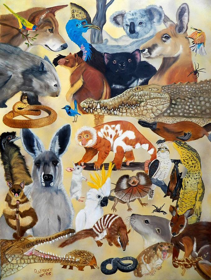 Kangaroo Painting - Australia by Debbie LaFrance