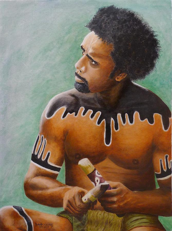 Native Painting - Australian Aboriginal by David Hawkes