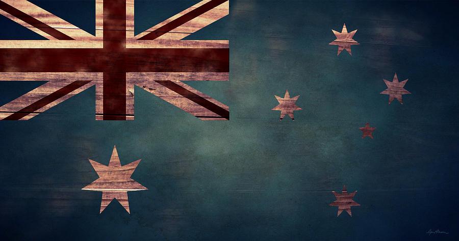 Australian Flag Digital Art - Australian Flag I by April Moen