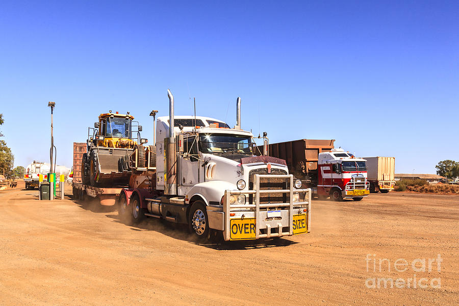 Australia Photograph - Australian Outback Truck Stop by Colin and Linda McKie