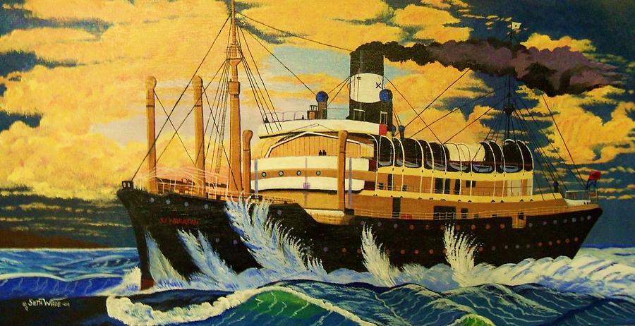 Sunken Ship Painting - Australias Titanic--the Ss Waratah by Seth Wade