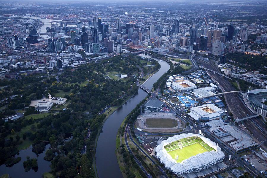 Australia Photograph - Australlian Open Tennis Venues by Brett Price