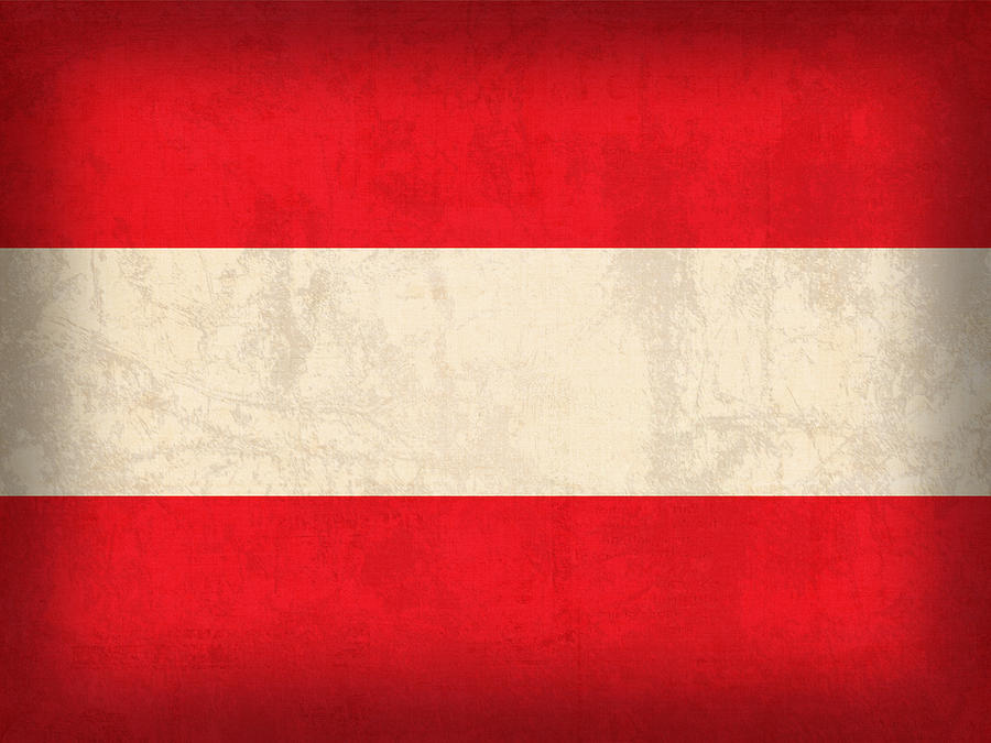 austria flag vintage distressed finish mixed media by design turnpike