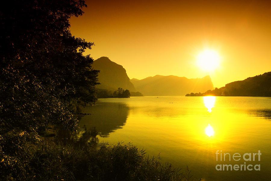 Austrian Lake Sunset Photograph