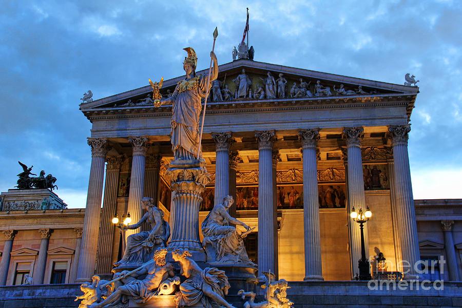 Austrian Parliament Building Photograph - Austrian Parliament Building by Mariola Bitner